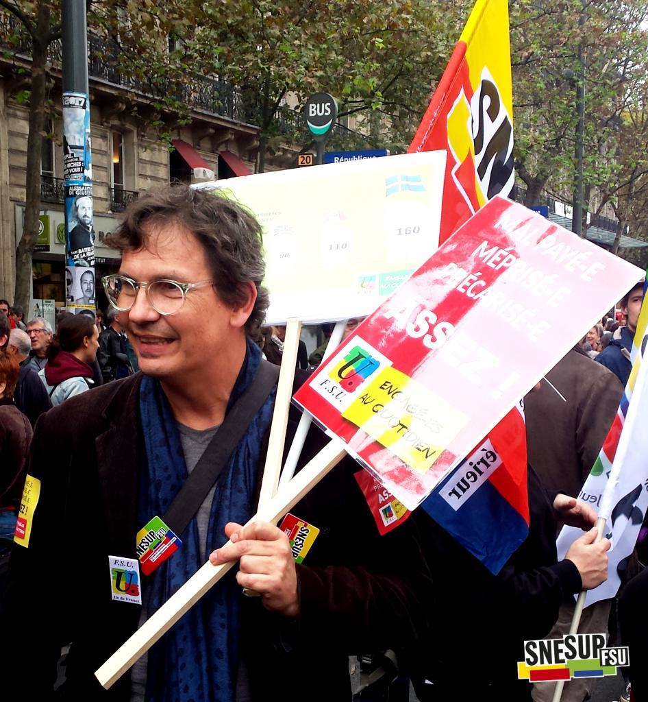 Manifestation de la Fonction publique du 10 octobre 2017 - Paris - Hervé Christofol - CC-BY-SA SNESUP-FSU