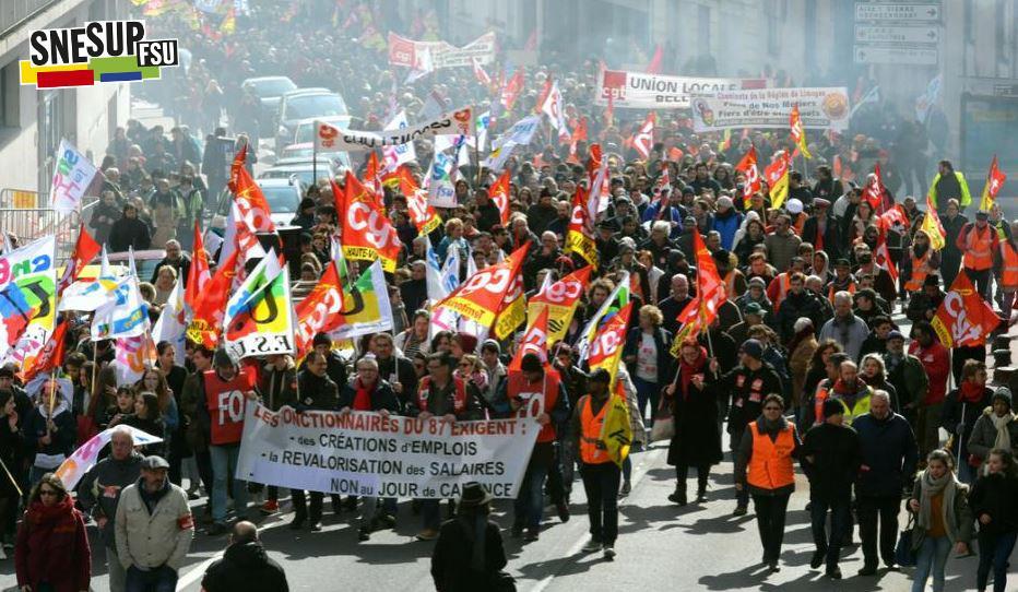 Manifestation de la Fonction publique du 22 mars 2018 - Limoges - Vincent Cousseau