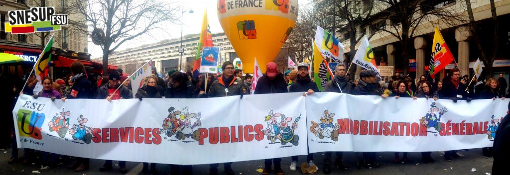 Manifestation de la Fonction publique du 22 mars 2018 - Paris - Pierre Chantelot