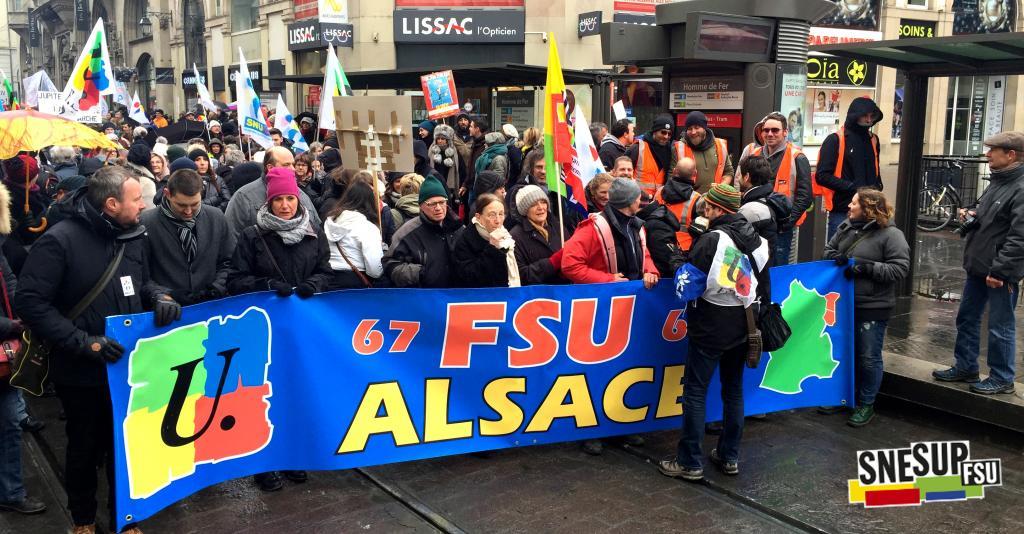 Manifestation de la Fonction publique du 22 mars 2018 - Strasbourg - Pascal Maillard