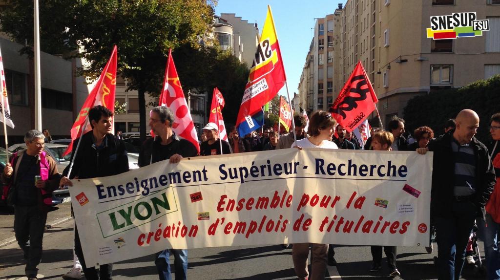 Manifestation de la Fonction publique du 10 octobre 2017 - Lyon - Anne Roger - CC-BY-SA SNESUP-FSU