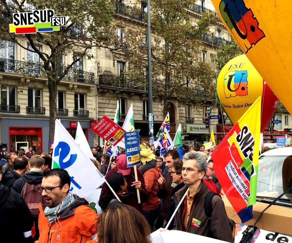 Manifestation de la Fonction publique du 10 octobre 2017 - Paris - Marc Champesme - CC-BY-SA SNESUP-FSU