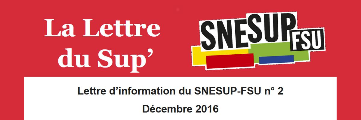 La Lettre du Sup' n° 2 - Décembre 2016